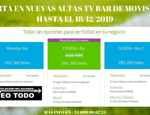 Ofertas Nuevas Altas Movistar Bar hasta el 18/12/2019